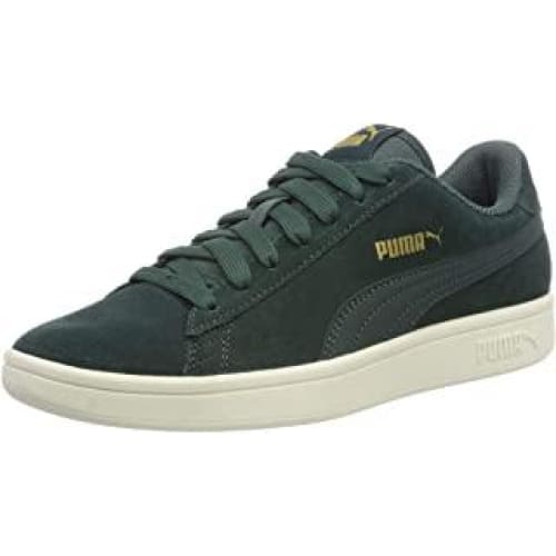 puma smash v2 sneakers basses mixte adulte vert ponderosa pin