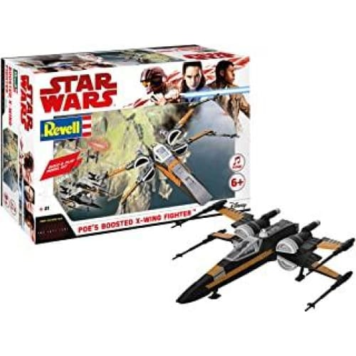 revell 06763 star wars les derniers jedi poe boosted x wing fi