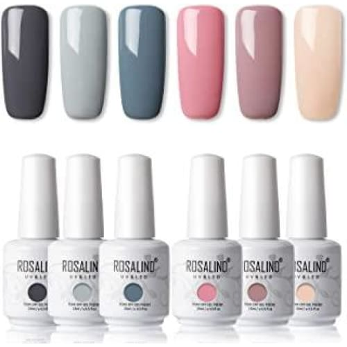 rosalind 15ml vernis a ongles gels semi permanents gris color nail g