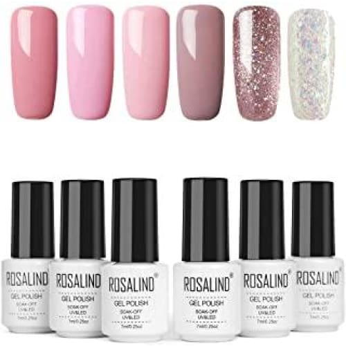 rosalind vernis semi permanent rose set french lot de 6 a ongle
