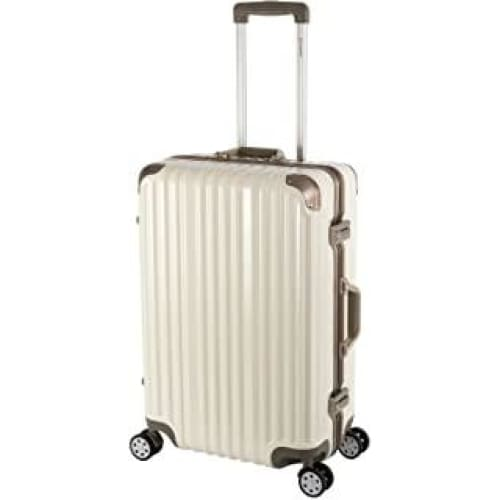 sale t1169 travelhouse valise rigide en aluminium cadre london weiss