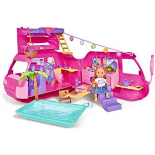 simba 105733275 evi love holiday camper vehicule pour poupee multico