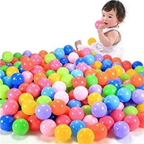 single 100pcs200pcs balles de jeu balle plastique souple coloree oce