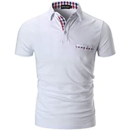 sttlzmc mode polo homme manche courte golf poloshirt casual col cont
