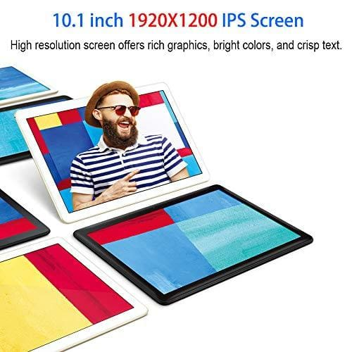 "Tablette Tactile 10 Pouces Tablettes Pc 10.1"" (25 65 Cm) Androi"