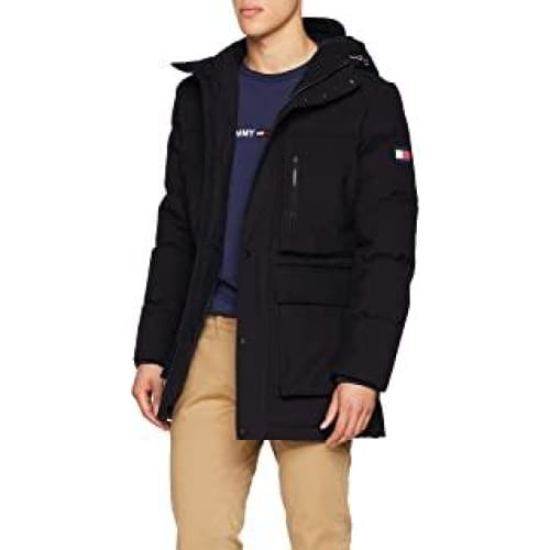 tommy hilfiger heavy canvas down parka homme