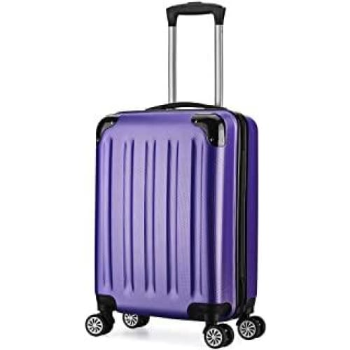 valise trolley cabine 55cm bagage a main abs 4 roues rigide ultra le