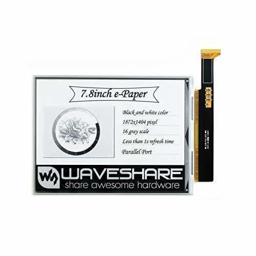 waveshare 7 8inch e ink raw display without pcb 18721404 resolution