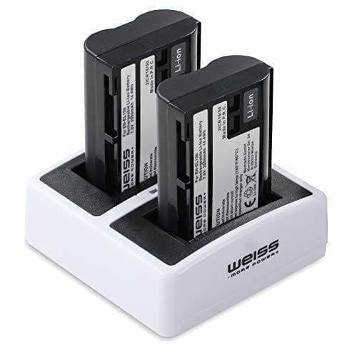 Weiss - More Power+ 2X Batterie Et Chargeur De Batterie Pour Nikon E