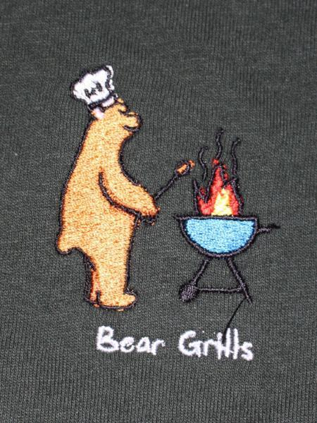 Bear Grills Crewneck - Forest Green