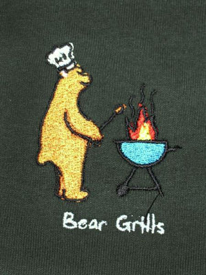 Bear Grills Hood - Forest Green
