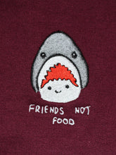 Load image into Gallery viewer, Friends Not Food - Maroon Hood