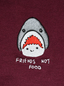 Friends Not Food - Maroon Hood