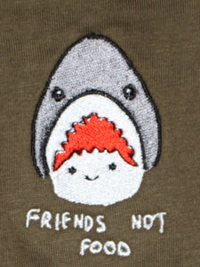 Friends Not Food - Olive LS