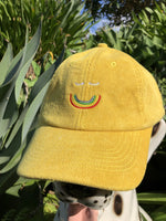 Happy Daze Corduroy Cap - Gold