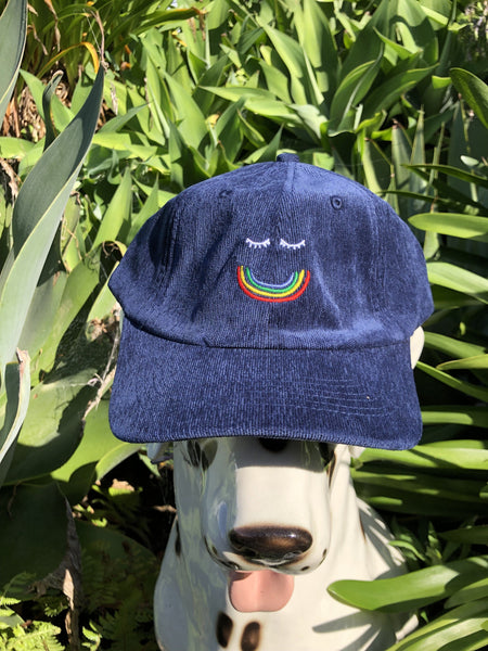 Happy Daze Corduroy Cap - Navy