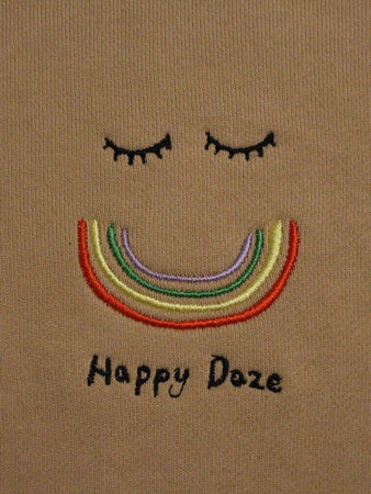 Happy Daze Crewneck - Beige
