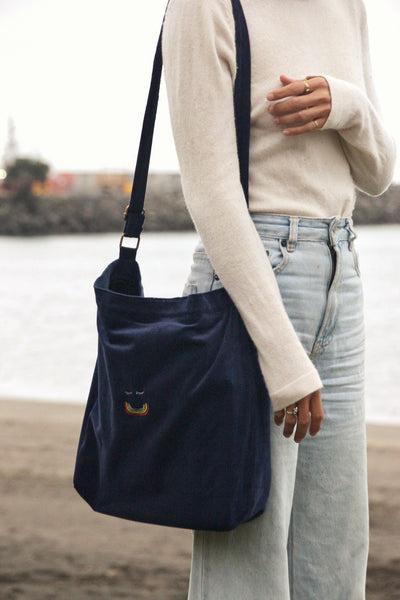 Recycled Cord Bag - Midnight Blue