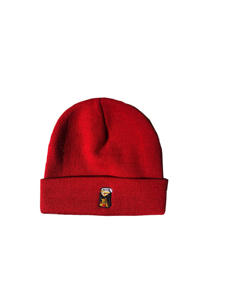 Winnie Blues Beanie - Dark Cherry