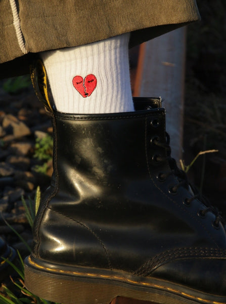 Love Hate Sock - White