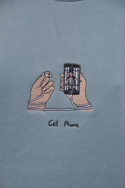 Cell Phone Crew - Light Slate