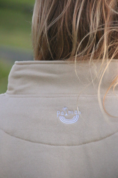 Quarter Zip Sweater - Beige