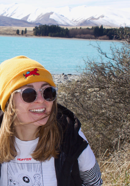Smile High Club Beanie - Gold