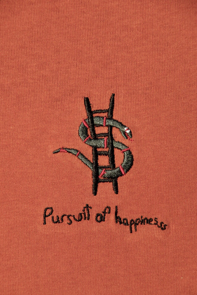 Pursuit of happiness LS - Burnt Orange (Organic Hemp)