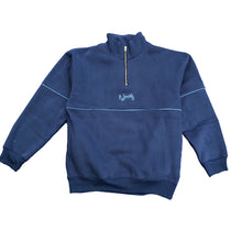 Load image into Gallery viewer, Quarter Zip Sweater - Navy
