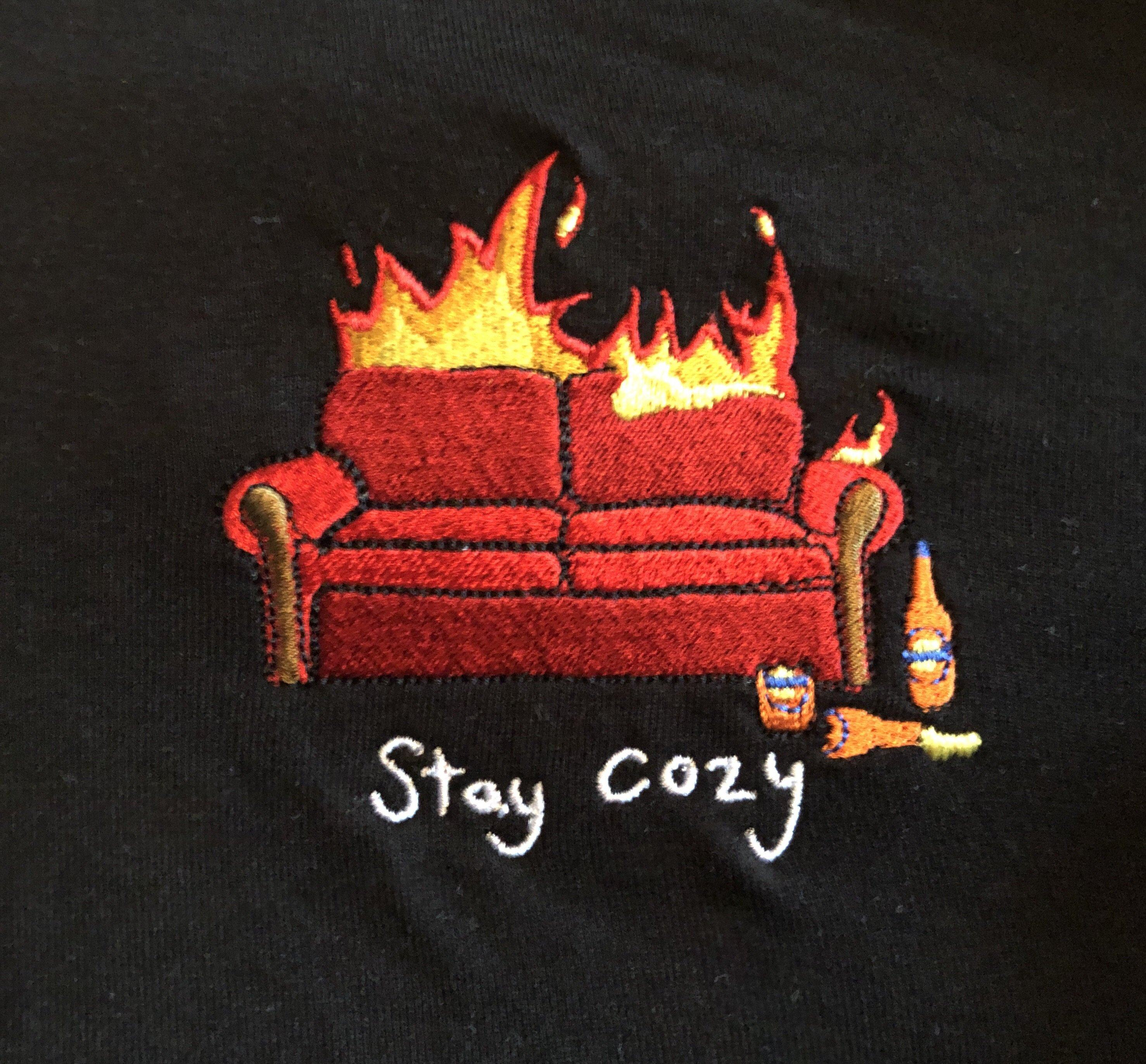 Stay Cosy Hood - Black