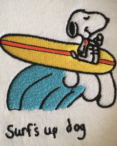 Surf's Up Dog - LS White