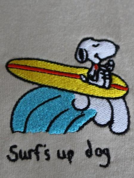 Surf's Up Dog SS - Beige