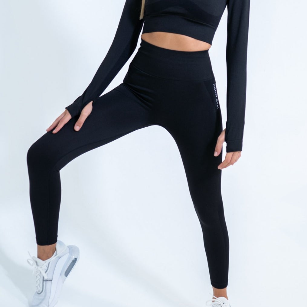 LONG TECH LEGGING - BLACK