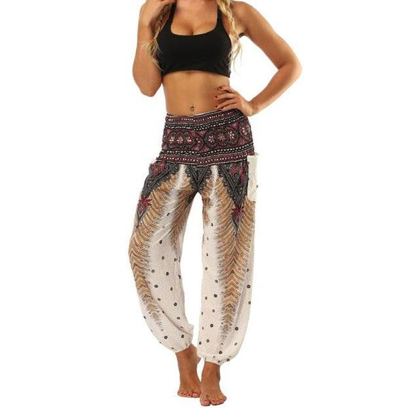 Feather Pattern Yoga Pants