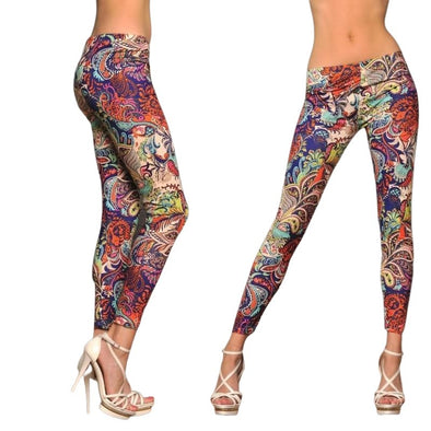 Colorful Flowers Yoga Pants