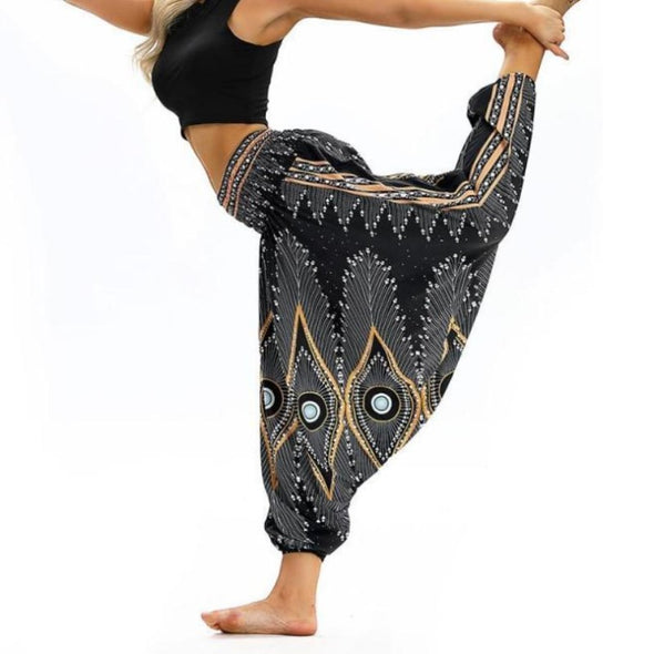 Peacock Feathers Yoga Pants