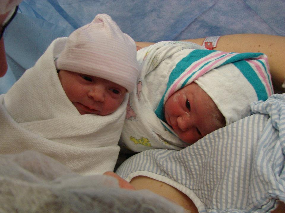 """Little Miss Impatience"" and Her Twin Sister Sadie: A Birth Story"