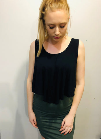 Sanction Crop (Black)