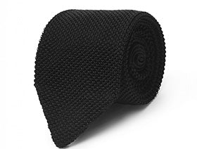 Calibre Black Knitted Tie