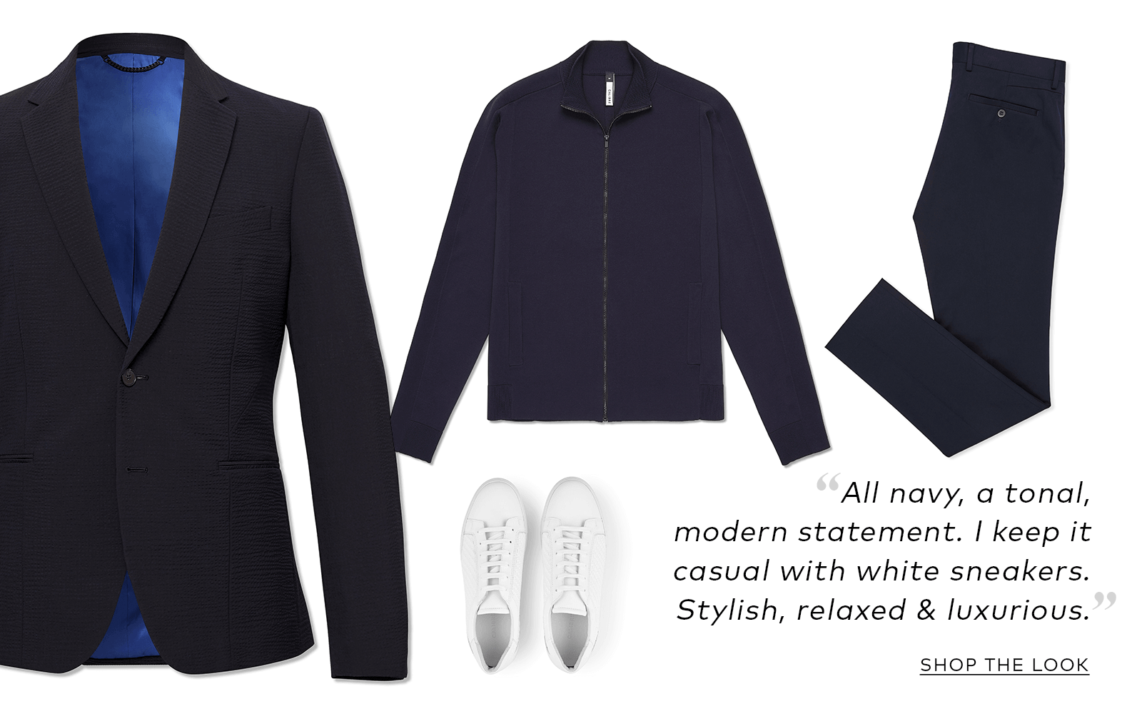 Menswear Outfit Navy Suit