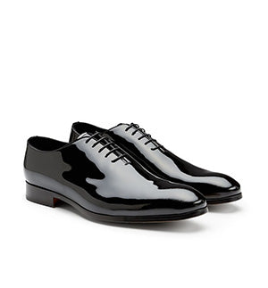 Doucals Patent Oxford Shoe Black