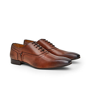Calibre Italian Buckle Leather Oxford Tan Shoes