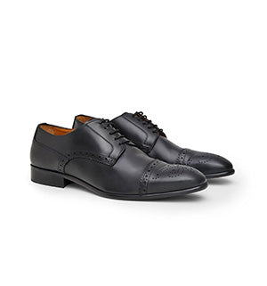 Calibre Italian Brogue Leather Black