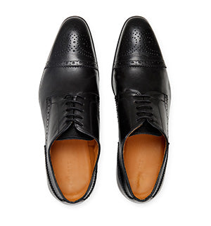 Calibre Italian Brogue Leather Derby