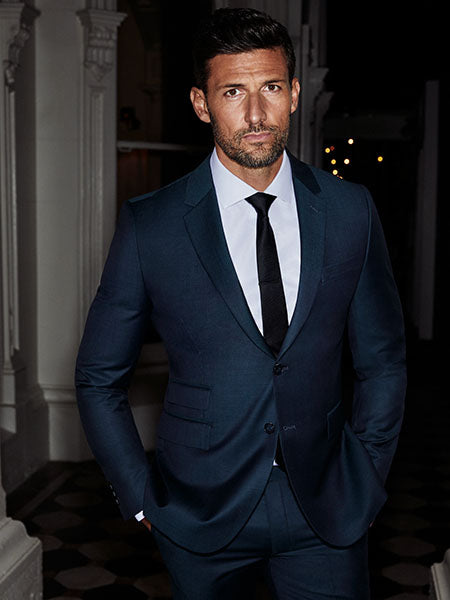 Tim Robards Navy Suit | Calibre