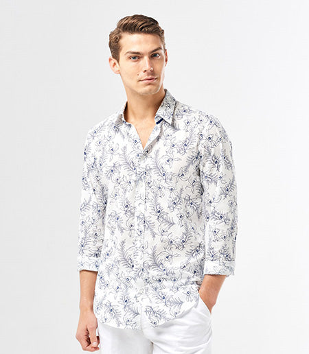 Calibre Tropical Floral Print Shirt