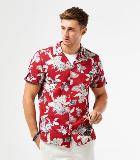 Calibre SS Linen Hawaiian Shirt