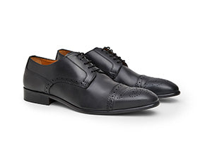 Calibre Italian Brogue Leather Derby Men's Shoes
