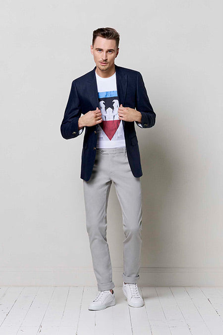 dress shirt and jeans look