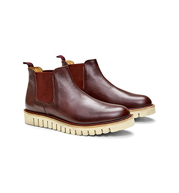 Calibre Rubber Sole Leather Boots